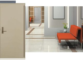Ceco's steel doors can be stained to match the color and warmth of wood but the security of steel.