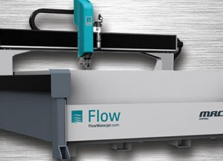 Products are processed with Flow's waterjet technology.