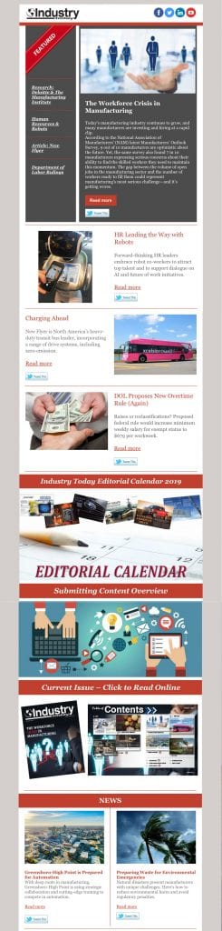 industry today newsletter 3-21-19
