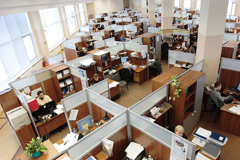 office workers stress