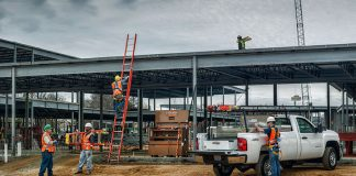 WernerCo's products such as Werner ladders and Fall Protection products are used by crews on construction sites.