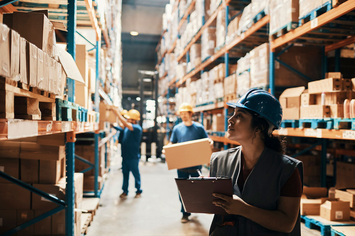 employee in warehouse automation
