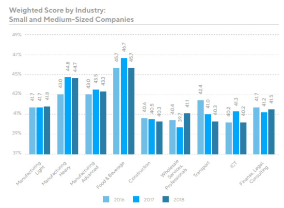 small and medium sized companies by industry