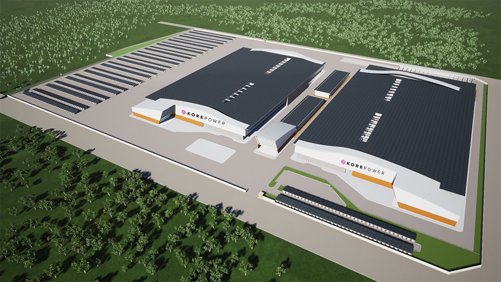 kore power manufacturing facility rendering