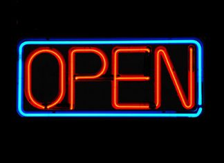 business signage open sign
