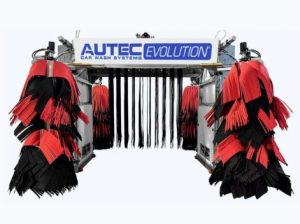 The AUTEC EVOLUTION automatic car wash is one of four systems created by AUTEC Car Wash Systems