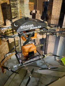 Amazon's Prime Air cargo delivery offers services that include 30-min delivery for members.