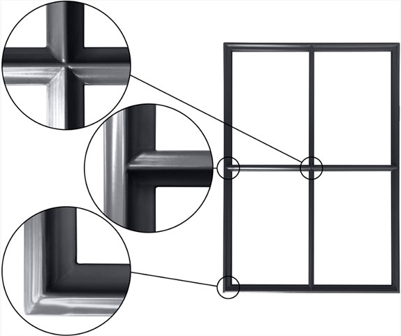 one 55 series product hot steel windows