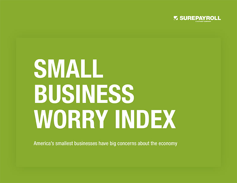surepayroll small business worry index report