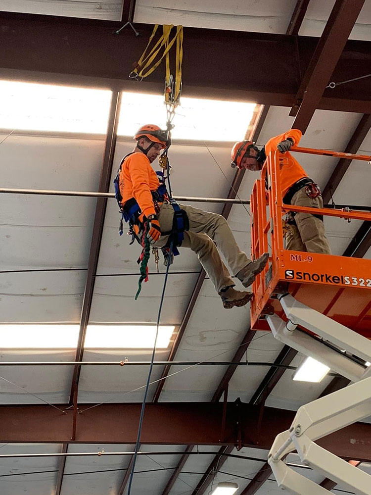 Rappels can be land- or air-based and the beam clamps will be used in various scenarios.