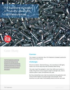 ita fasteners increased products life case study