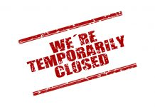 coronavirus covid19 temporarily closed business