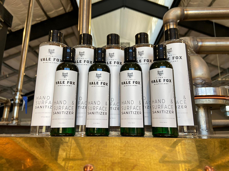 vale fox distillery hand and surface sanitizer