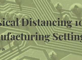 physical distancing for manufacturing infographic