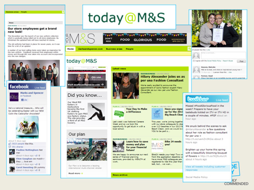 Creating a sense of community and learning more about colleagues professionally and personally was the main objective for M&S intranet.