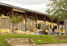 severe weather damage on manufacturing