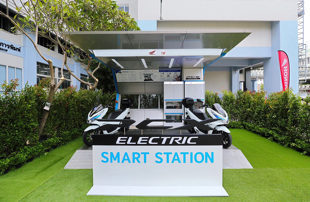 Model of electric charging station in Thailand