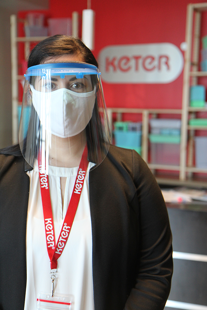 Keter is donating face shields to frontline healthcare workers across North America.