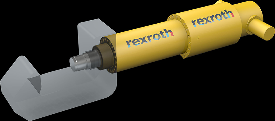 rexroth subsea clamping cylinder
