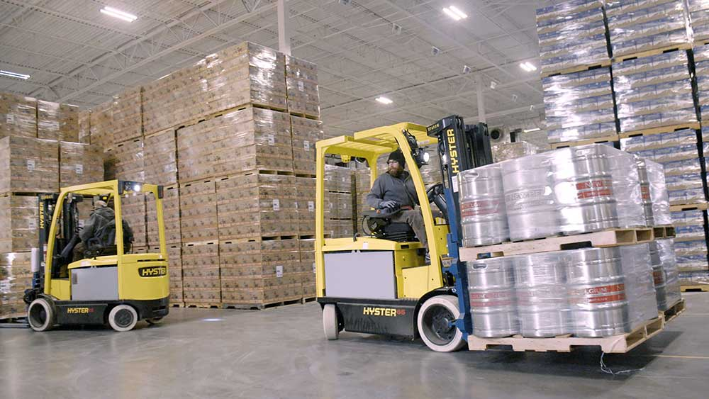 hyster belgium brewing company supply chain project