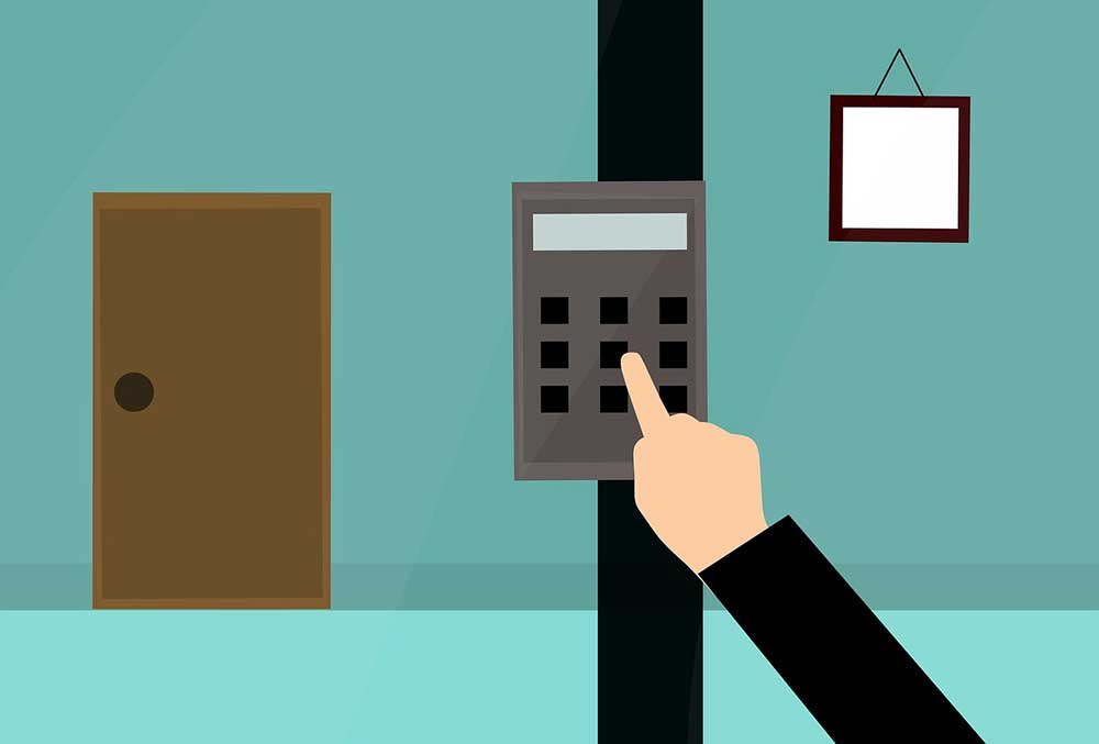 Stricter access controls like swipe cards can minimize security risk and better protect company data.