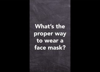 proper way to wear face mask