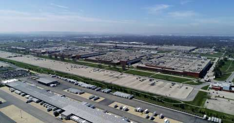 aerial view of ge appliance park in louisville ky