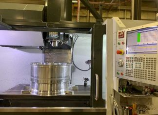 Inside the Haas VF-6 SS Vertical CNC Machining Center (SS is for Super Speed)