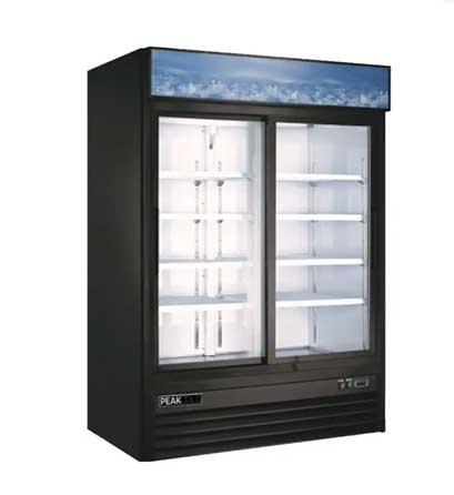 commercial refrigeration 2 door display cooler