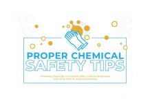 proper chemical safety tips infographic