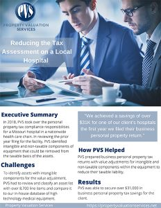 pvs reducing the tax assessment on a local hospital case study