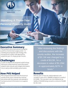handling a three year personal property audit case study