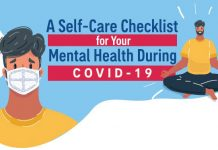 self care checklist for your mental health during covid-19 infographic