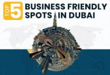 top 5 business friendly spots in dubai infographic
