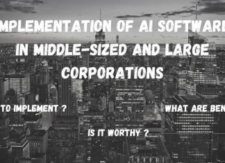 implementation of ai software in middle and large size corporations