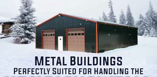 metal buildings perfectly suited for handling heavy snowfall infographic