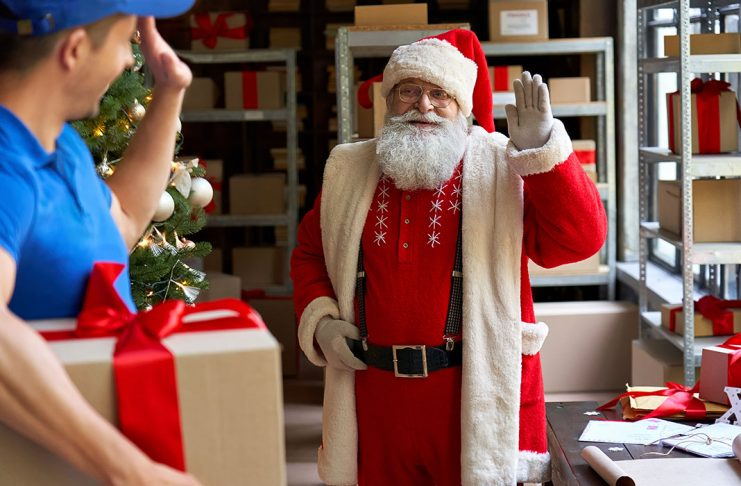 mailing packages during holiday season