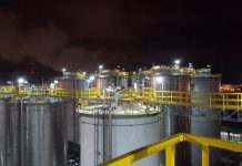 Rubis Terminal installed Dialight LED lighting throughout their facility to help meet their carbon neutral goals.