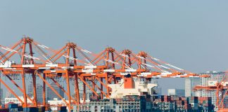TICT Tokyo International Container Terminal by yuukin is licensed under CC by 2.0