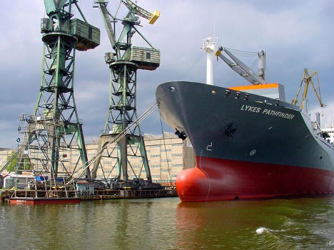 The hull of a ship can be damaged by microbes and corrosion.