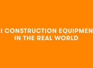 ai construction equipment in the real word infographic