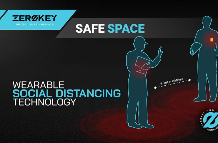 When Safe Space devices breach a configurable min. distance i.e. 6ft or 2m, users are alerted by vibration, warning light and audible alarm