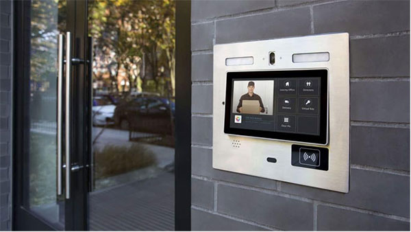 Cloud-based video intercom systems that pair with apps help commercial buildings minimize contact.