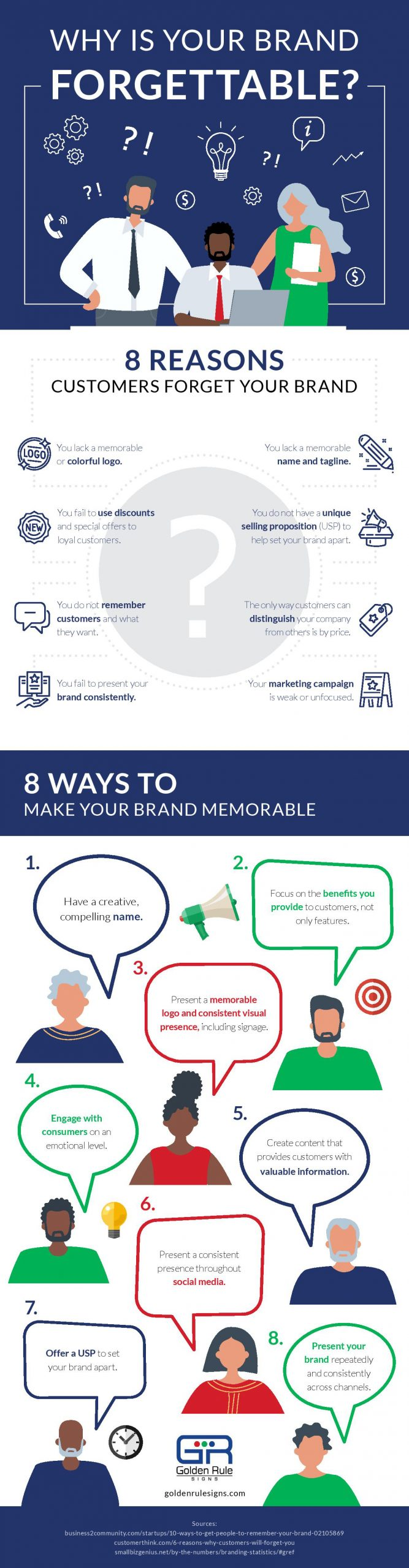 why is your brand forgettable infographic