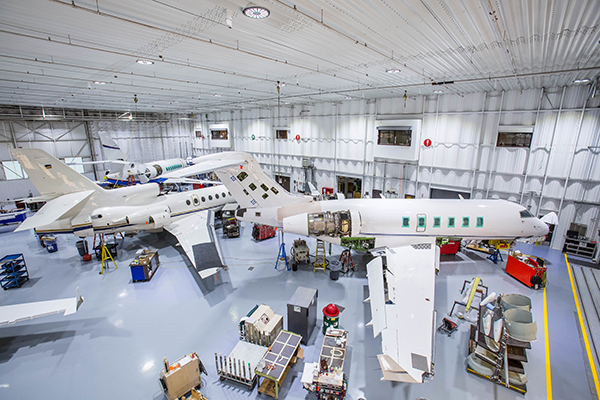 Duncan Aviation integrated their fixtures with their existing automation system to manage on/off, scheduling and more.