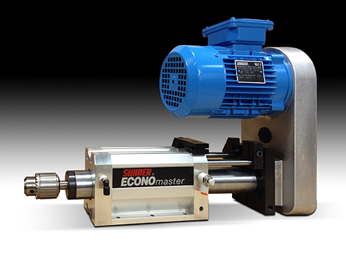 ECONOmaster® value-priced drilling units from Suhner are suitable for medium-duty production cutting of light metal, wood, composite, foam and plastic materials. Standard and custom models available to suit all applications and mounting requirements.