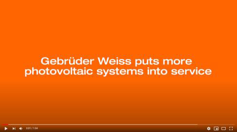 Gebrüder Weiss puts new photovoltaic systems into service – click here to watch the video. (Source: Gebrüder Weiss)