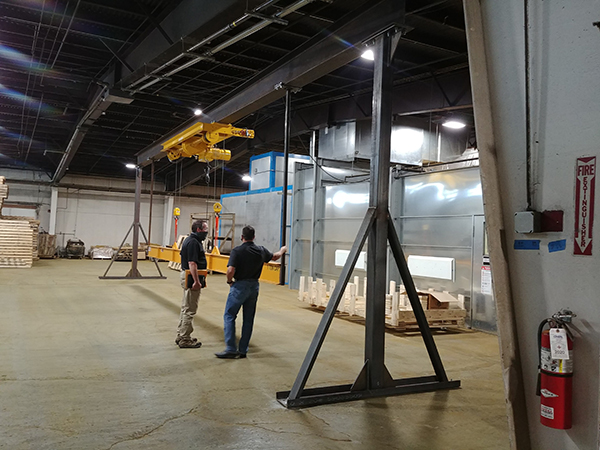 The system was assembled and tested onsite at HSI prior to shipment, including a load test.