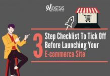 pre-launch checklist for your e-commerce website infographic