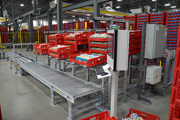 Cimcorp designed a space-saving, custom bakery product handling and order fulfillment solution for a convenience store chain.